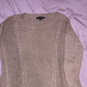 light brown American Eagle Outfitters knit sweater